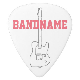 add the name of the band white delrin guitar pick