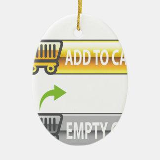 Add to Cart Button Empty Cart Button Ceramic Ornament
