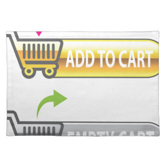 Add to Cart Button Empty Cart Button Cloth Placemat