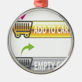 Add to Cart Button Empty Cart Button Metal Ornament
