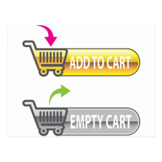 Add to Cart Button Empty Cart Button Postcard