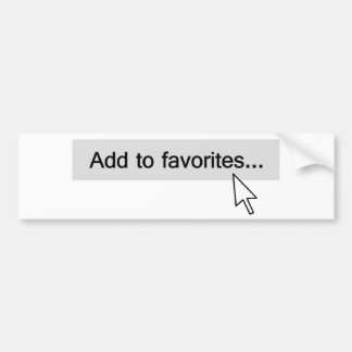 Add to Favorites Computer Mouseover Bumper Sticker