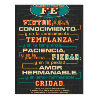 Add to Your Faith  Spanish Bible Verses Post Card