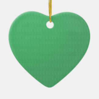 Add TXT IMAGE Template DIY Green CRYSTAL Texture Double-Sided Heart Ceramic Christmas Ornament
