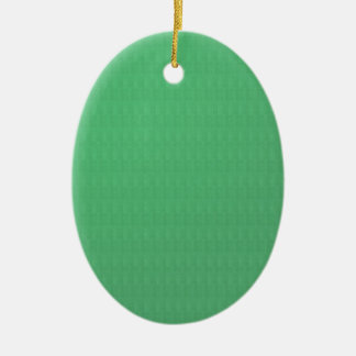 Add TXT IMAGE Template DIY Green CRYSTAL Texture Double-Sided Oval Ceramic Christmas Ornament
