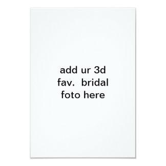 "add ur 3d fav. bridal *foto* here Invitation 3.5"" X 5"" Invitation Card"