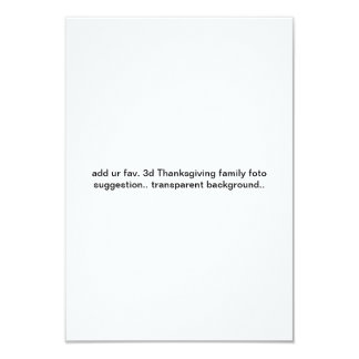 """add UR 3d Thanksgiving family foto custom invitez Card"