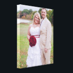 "Add Wedding photo or other &#39;s Wrapped Canvas<br><div class=""desc"">Add Wedding photo or other everyday photos Wrapped Canvas Art...  A beautiful bride and groom...  A day to remember YOUR WEDDING DAY!!!</div>"