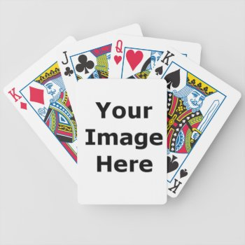 Add You Logo And Text Here Bicycle Playing Cards by CREATIVEforBUSINESS at Zazzle