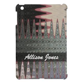 Add you name Grey Black Abstract iPad Mini Case