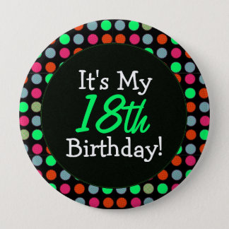 Add Your Age, It's My Birthday, Polka Dots Button