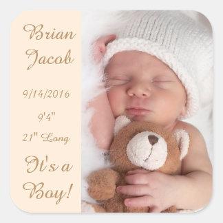 Add Your Baby's Photo & Birth Information Sticker
