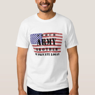 Add Your Brother's Name Proud Army Brother Shirt