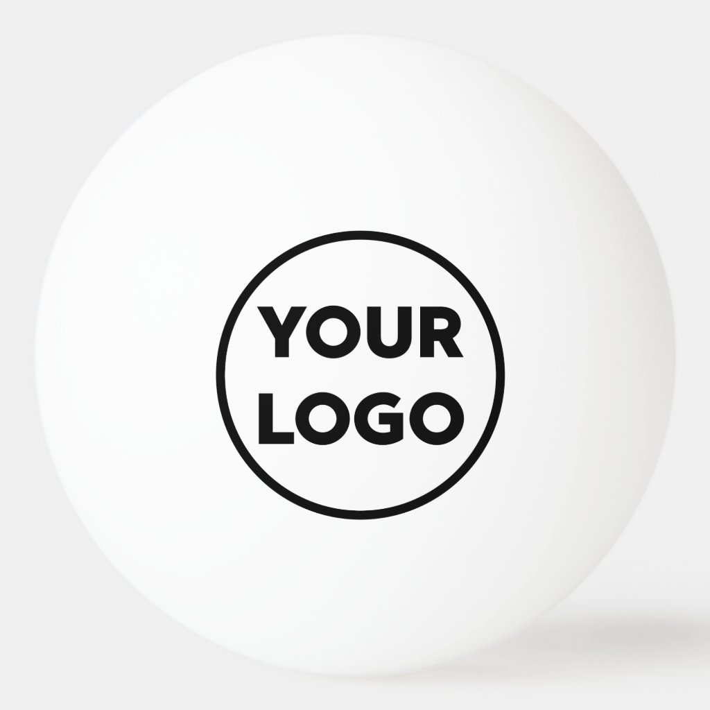 Add Your Business Company Logo Branded Ping Pong Ball