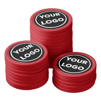 Add Your Business Company Logo on Black Branded Poker Chips