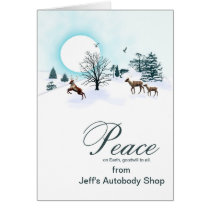 Add your business name, Christmas with reindeer Card