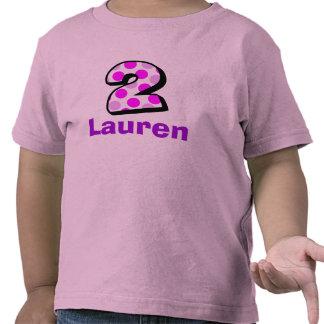 Add Your Child's Name 2nd Birthday  Shirt