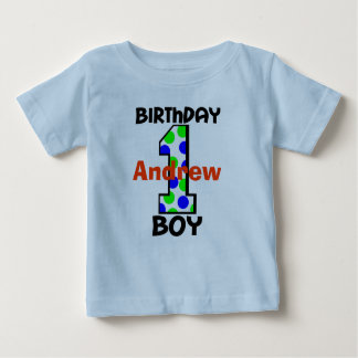 Add Your Child's Name Birthday Boy Shirt