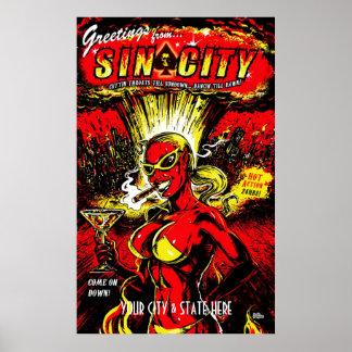 ADD YOUR CITY Devil Girl Atom Bomb Poster