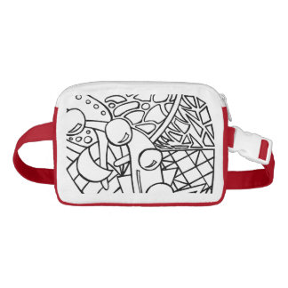 Add Your Color BW1 Color Me Line Nylon Fanny Pack