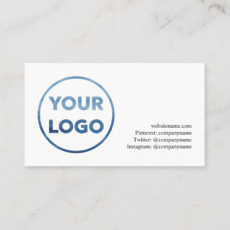 Add Your Company Logo and Contact Info Business Card