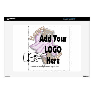 """Add Your Company LOGO as Client or Employee Gifts 15"""" Laptop Decal"""