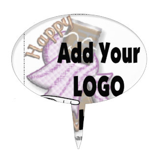 Add Your Company LOGO as Client or Employee Gifts Cake Topper