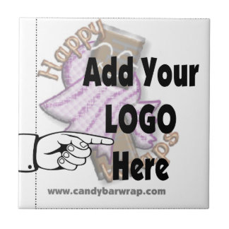 Add Your Company LOGO as Client or Employee Gifts Ceramic Tile