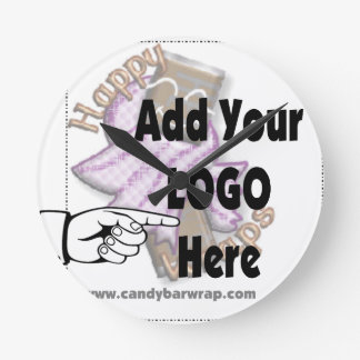 Add Your Company LOGO as Client or Employee Gifts Round Clock