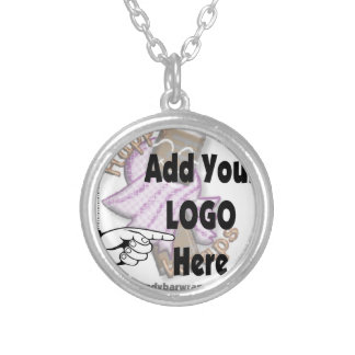 Add Your Company LOGO as Client or Employee Gifts Round Pendant Necklace