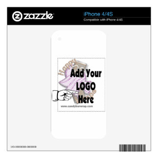 Add Your Company LOGO as Client or Employee Gifts Skins For iPhone 4S