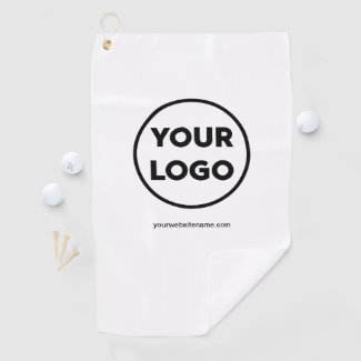 Add Your Company Logo & Business Website or Slogan Golf Towel