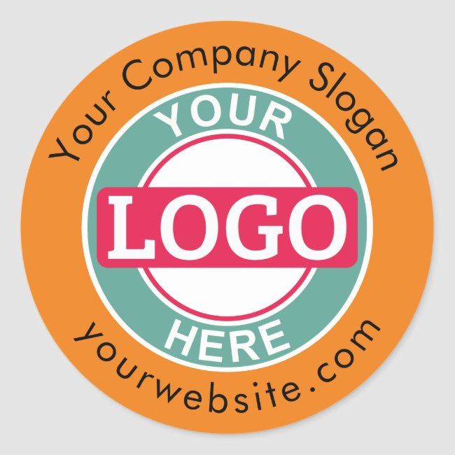 Add Your Company Logo Classic Round Sticker