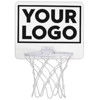 Add Your Custom Business Company Logo Mini Basketball Backboard