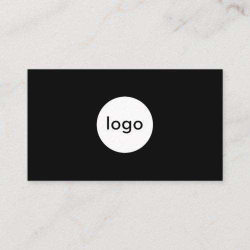 Add your custom logo circle professional black business card
