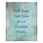 Add Your Custom Text Aqua and Teal Grunge Poster