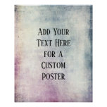 Add Your Custom Text Colorful Grunge Poster