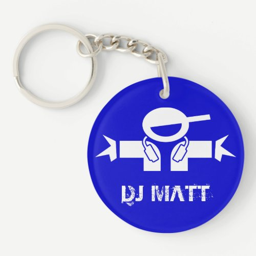Add your DJ name - Personalized Deejay keychain