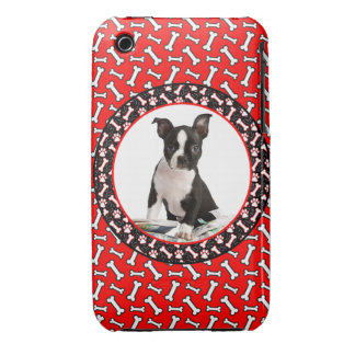 Add Your Dog's Photo Bone and Paw Template iPhone 3 Case-Mate Case