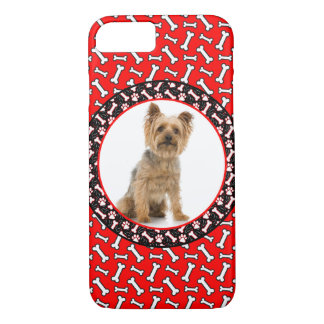 Add Your Dog's Photo Bone and Paw Template iPhone 8/7 Case