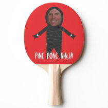 Add Your Face Funny Ping Pong Ninja Paddle