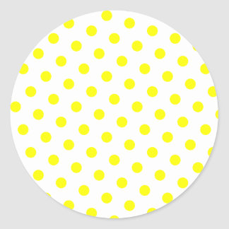 Add Your Favorite Color to Yellow Polka Dots Classic Round Sticker