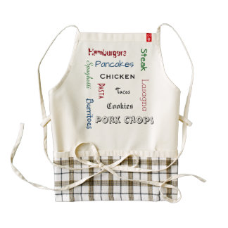 Add Your Favorite Meals Zazzle HEART Apron