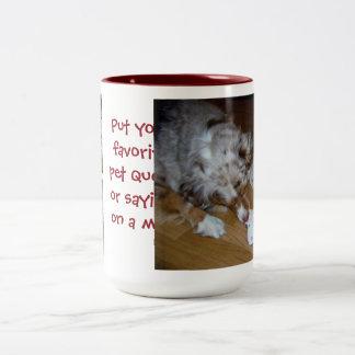 Add your favorite pet photos / message mug