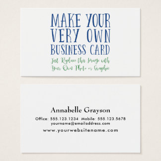 Add Your Favorite Photo or Image to the Front Business Card