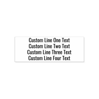 Add your favorite Text - Four Lines Sans Serif Self-inking Stamp
