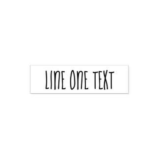 Add your favorite Text - One Line Handwritten Font Self-inking Stamp