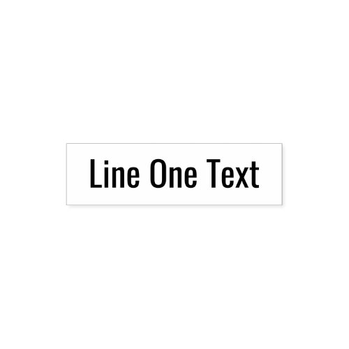 Add your favorite Text _ One Line Sans Serif Font Self_inking Stamp