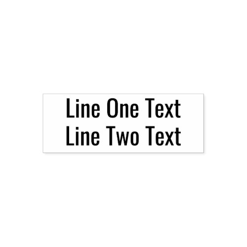 Add your favorite Text _ Two Lines Sans Serif Font Self_inking Stamp