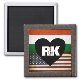 Add Your Flags & Initials Magnet